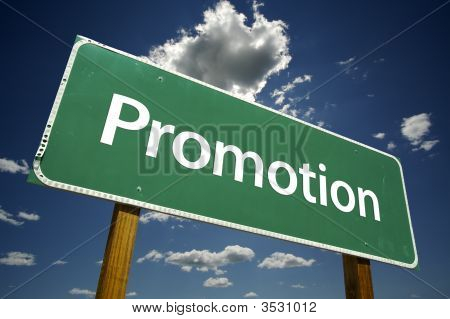 Promotion Road Sign