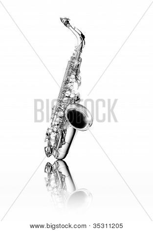 Black And White  Saxophone