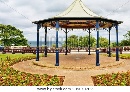 Traditional English bandstand