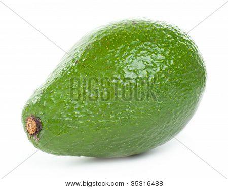 Single Avocado Isolated On A White Background