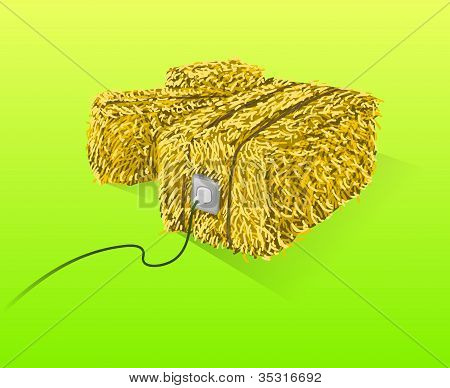 Straw Bales Illustration
