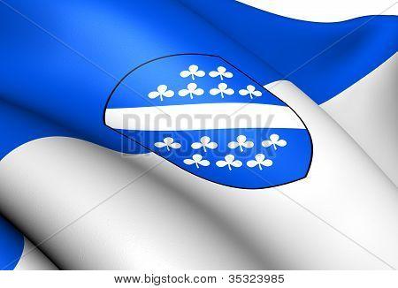 Flag Of Kassel, Germany.