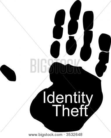 Mão com roubo de identidade.