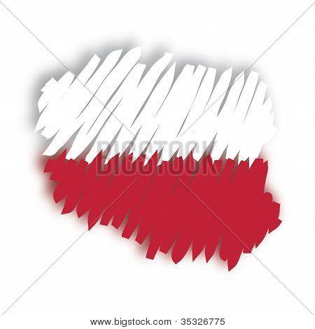 map flag Poland