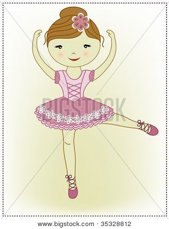 Beautiful lovely girl ballerina
