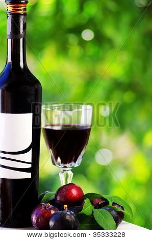 Red Wine And Red Fruits