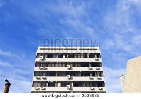 Building With Lots Of Air Conditioning Units