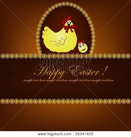 Beautiful easter card