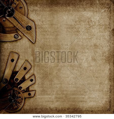 Vintage Background With Old Mechanisms
