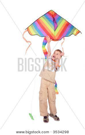 Boy Starts Kite