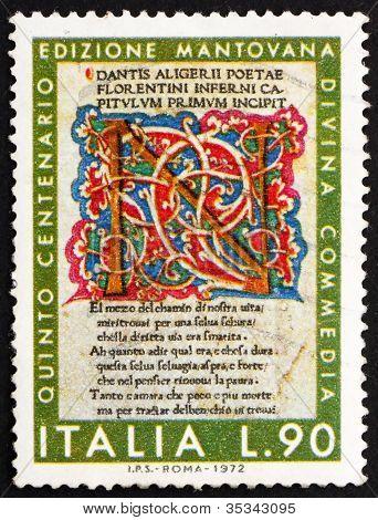 Postage stamp Italy 1972 Divine Comedy, Dante Alighieri