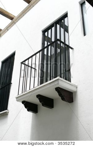 Colonial Balcony From A Mexico House
