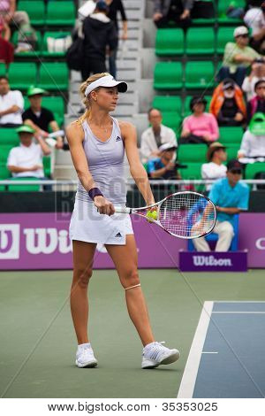Maria Kirilenko Preparing Serve