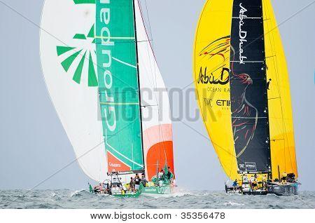 Groupama And Abu Dhabi Dueling Downwind