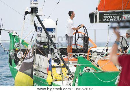 Frank Cammas At The Helm Of Groupama Sailing Team