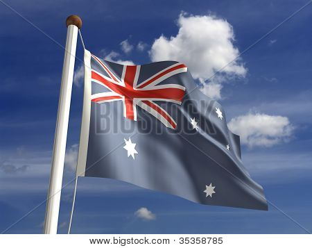 Australia Flag (with Clipping Path)
