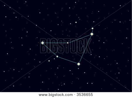"Vector Illustration Of Constellation ""Capricorn\"""