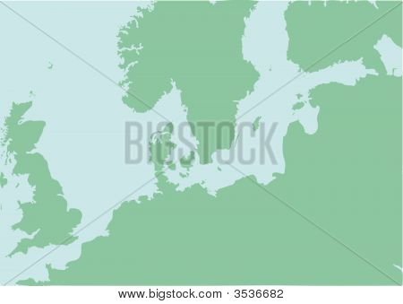 Map Of North Europe With Baltic Sea
