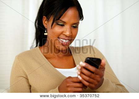 Gorgeous Black Woman Sending A Message