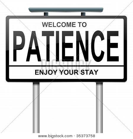Conceito de paciência.