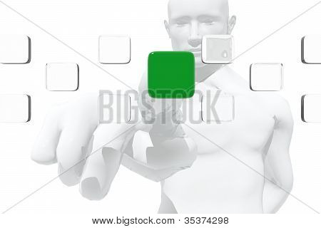 Consumer Selecting a Product
