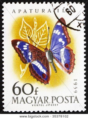 Briefmarke Ungarn 1959 Leser lila Kaiser, Apatura Ilia, b