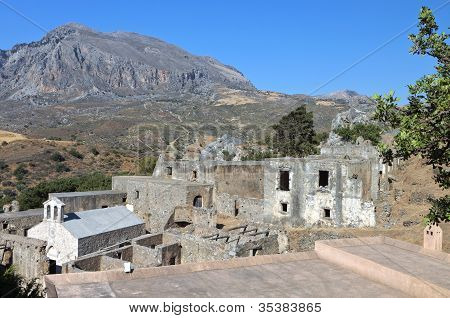 Preveli monastery in Crete, Greece