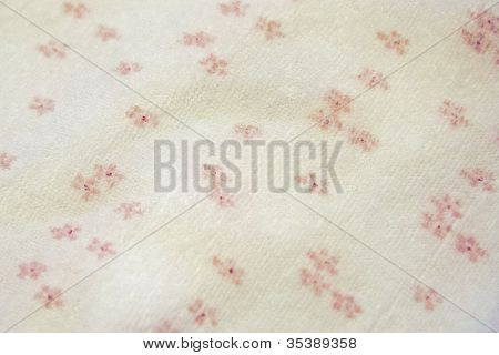 pink and white floral fabric
