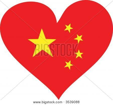China Flag Heart