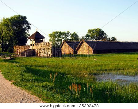The Archaeological Museum in the old settlement Biskupin Poland