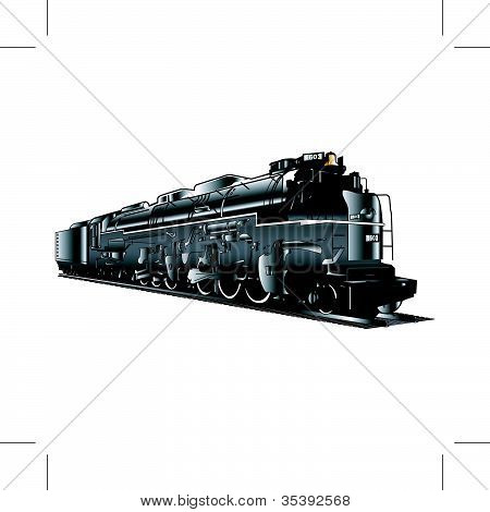 Train Engine And Tender