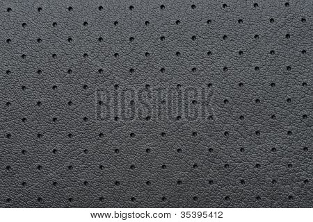 Black Perforated Leather Or Skin Texture