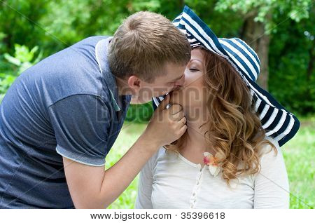 Young Married Couple Outdoors