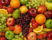 stock photo of fruit  - fruits on table - JPG