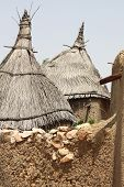 stock photo of dogon  - Thatched roofs of a Dogon village in Mali - JPG
