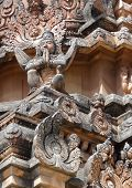 stock photo of vijayanagara  - detail of the Krishna Temple at Hemakuta Hill a part of the Sacred Center of Vijayanagara around Hampi a city located in Karnataka South West India - JPG