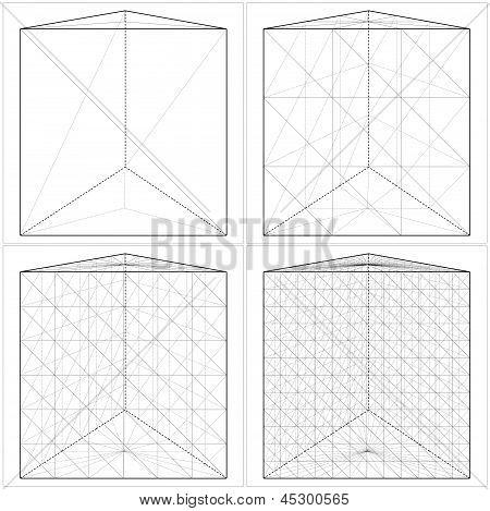 Prisma de lo Simple al forma complicada Vector