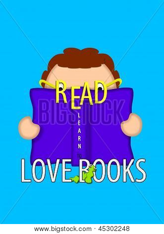 Book Lovers Learn To Read Aqua