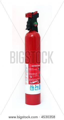 Isolated Fire Extinguisher