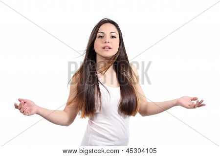 Beautiful Teenager Girl Teasing