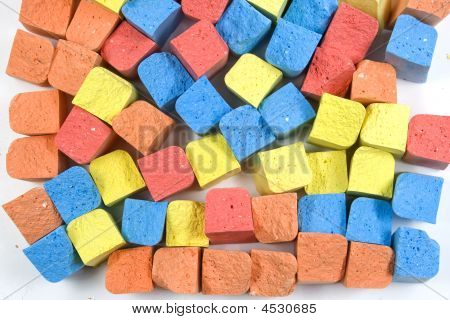 Set Of Colored Chalk
