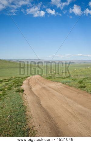 Remote Road Mongolia Central Asia