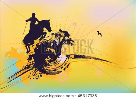 Abstract Rider Silhouette