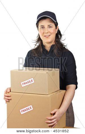 Delivering A Parcels Fragile
