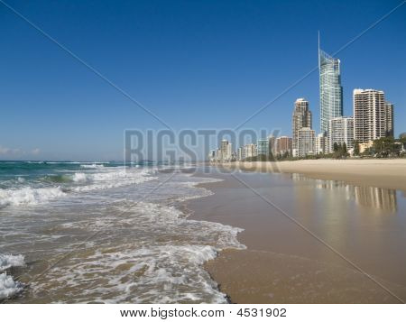 Beach At The Gold Coast Surfers Paradise Queensland Australia