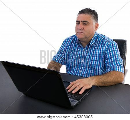 Businessman Concentrating On His Work
