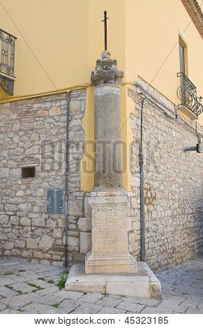 Votive cross. Venosa. Basilicata. Italy.