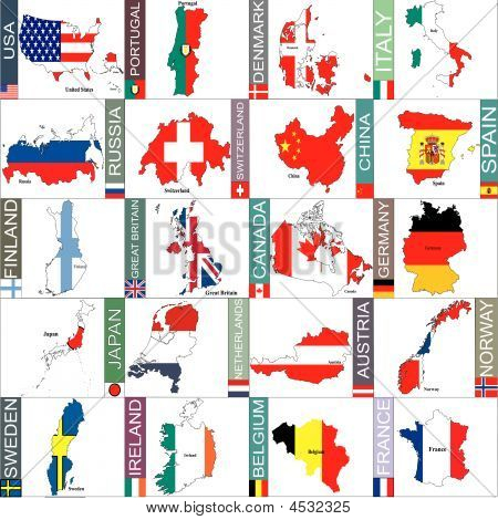 Countries Flags And Areas