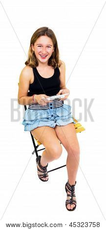 Girl Playing With Your Console