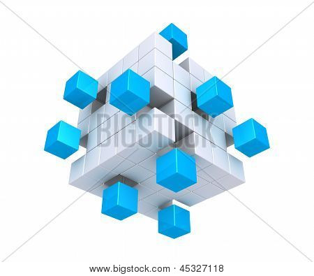 Cubes Detached From Square Object